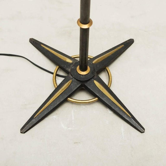 Jacques Adnet Style Star-Base Floor Lamp, France, 1950s - Image 2 of 7