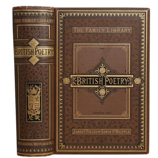 Family Library of British Poetry from Chaucer to Present For Sale