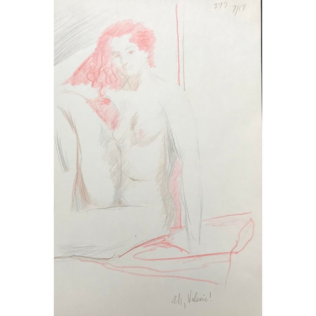 """Ah, Valerie"" Female Nude Drawing by James Bone For Sale"