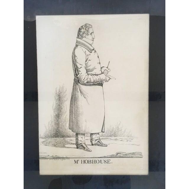 """Vintage """"Mr. Hobhouse"""" Male Dandy Portrait Lithograph - Image 3 of 4"""