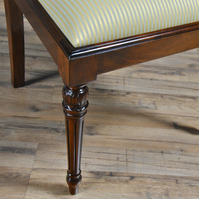 2010s Empire Upholstered Side Chair For Sale - Image 5 of 8