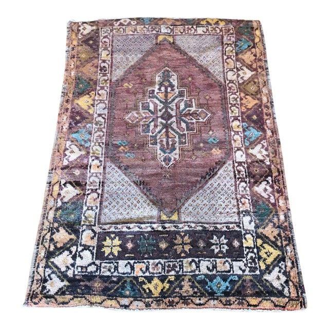 """Bellwether Rugs Turkish Patina """"Lo"""" Rug - 2′8″ × 3′11″ For Sale"""