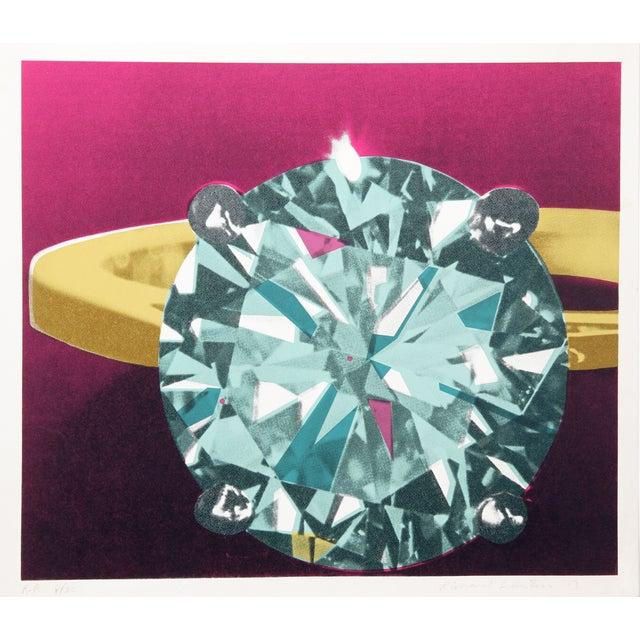 Richard Bernstein, Diamond, Silkscreen For Sale