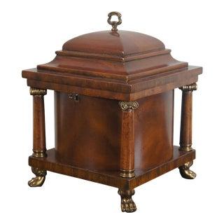 Vintage Maitland Smith French Empire Mahogany Box For Sale