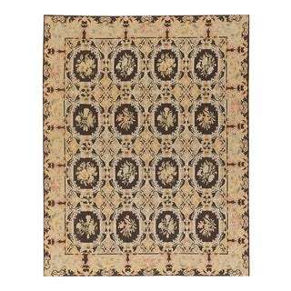 "Pasargad Aubusson Hand Woven Wool Rug - 11'10"" X 17' 9"" For Sale"