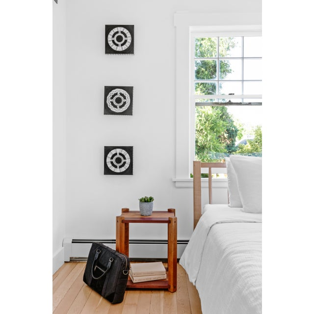 Canvas Natasha Mistry Contemporary Black Oil Paintings - Set of 3 For Sale - Image 7 of 11