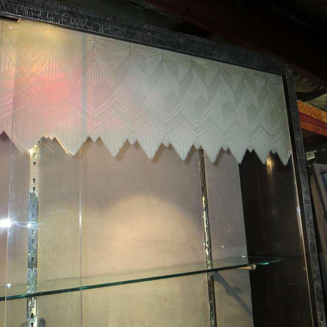 Art Deco Showcase With Lalique Glass Doors For Sale In Los Angeles - Image 6 of 11