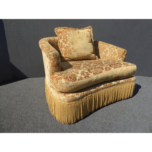 Gold Velvet Loveseat Accent Chair Amp Ottoman By Key City