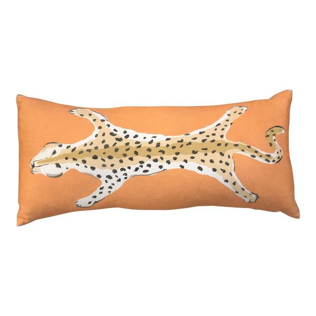 Leopard Lumbar Pillow by Dana Gibson For Sale