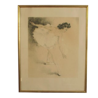 """1950 Mid-Century Modern French Signed Lithograph of Ballet Dancer """"Gracieuse"""", Framed For Sale"""