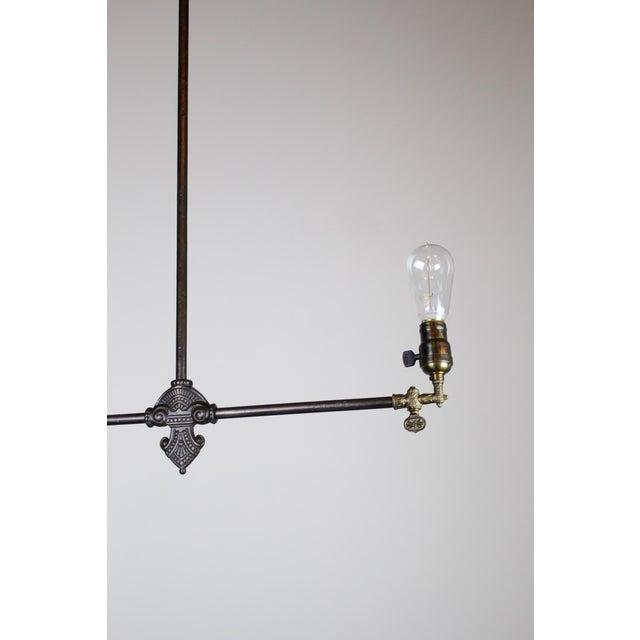 Original Industrial Gas Light Fixture Circa 1885 by Archer & Pancoast - Image 6 of 7