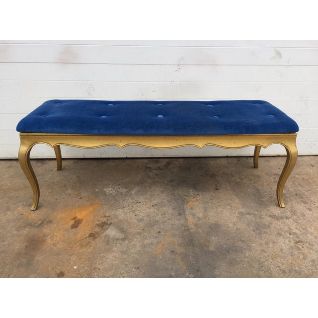 Hollywood Regency Style Gold Gilt Bench - Image 2 of 7