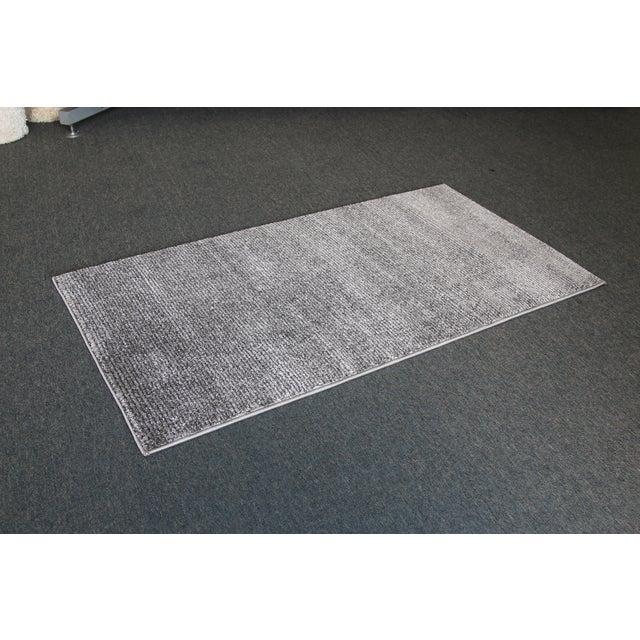 Gray Stripe Rug - 3′ × 5′ - Image 3 of 4