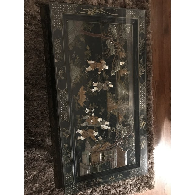 1920s 1920s Asian Lacquered and Inlaid Coffee Table For Sale - Image 5 of 9