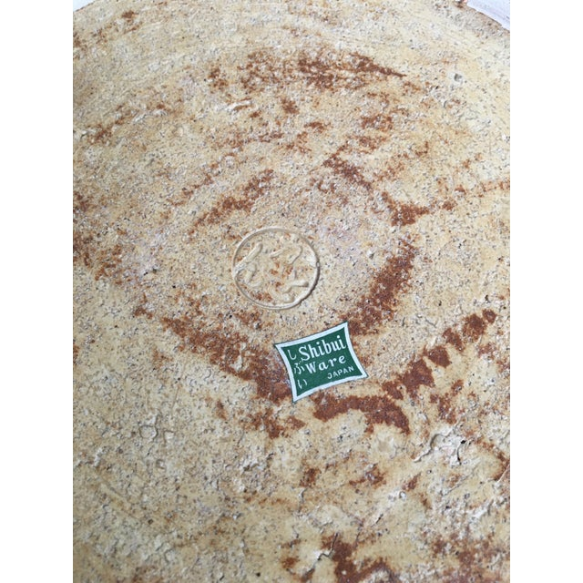 Mid Century Modern Japanese Stoneware Serving Piece/ Platter, Made in Japan For Sale In Los Angeles - Image 6 of 7