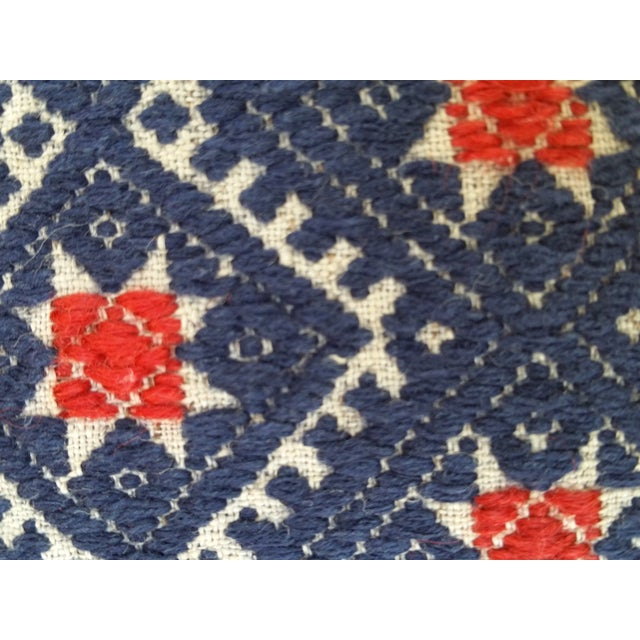 Hill Tribe Silk Embroidered Pillow For Sale - Image 4 of 5
