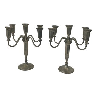 Godinger Silver Art Co. Candelabra Set of 2 For Sale