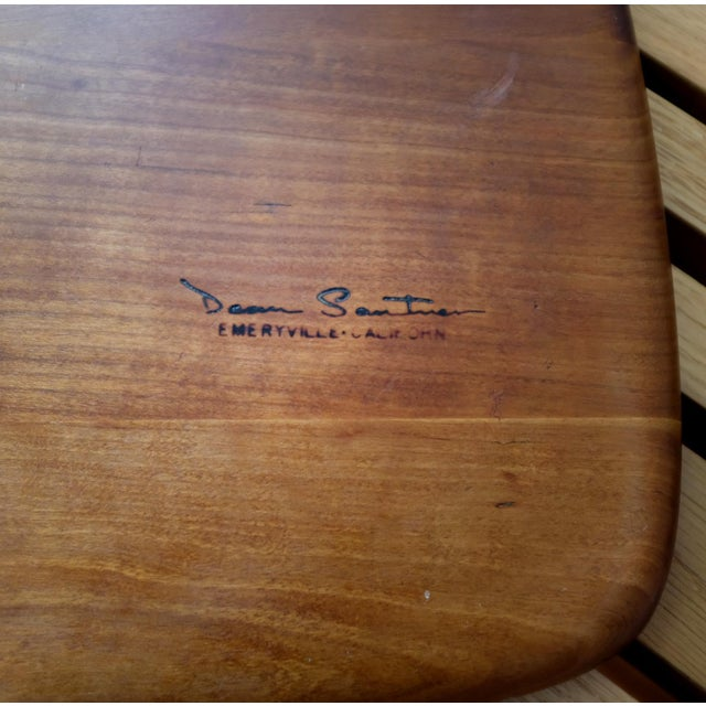 Carved Wood Serving Board by Dean Santner 1970s For Sale In San Diego - Image 6 of 7