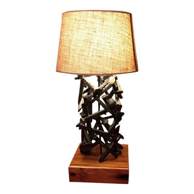 Railroad Spike Salvage Lamp - Image 1 of 5