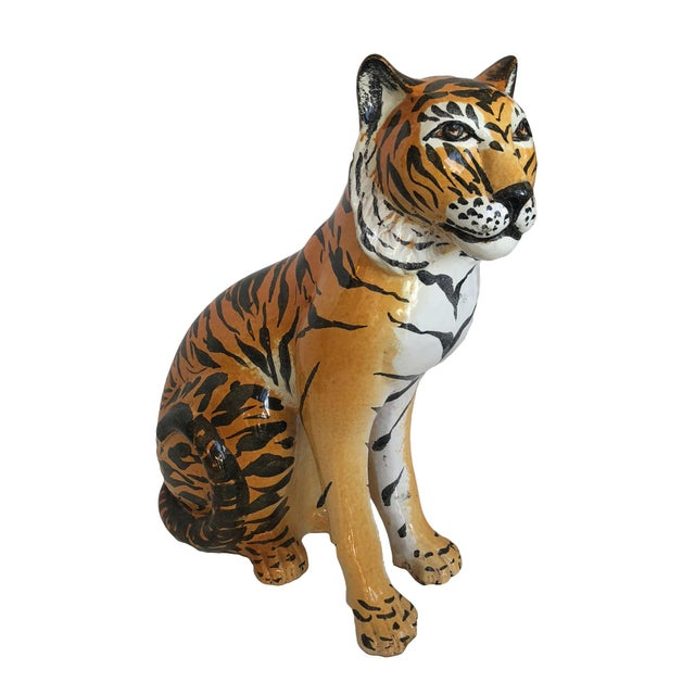 Vintage Italian Terracotta Tiger For Sale - Image 9 of 9