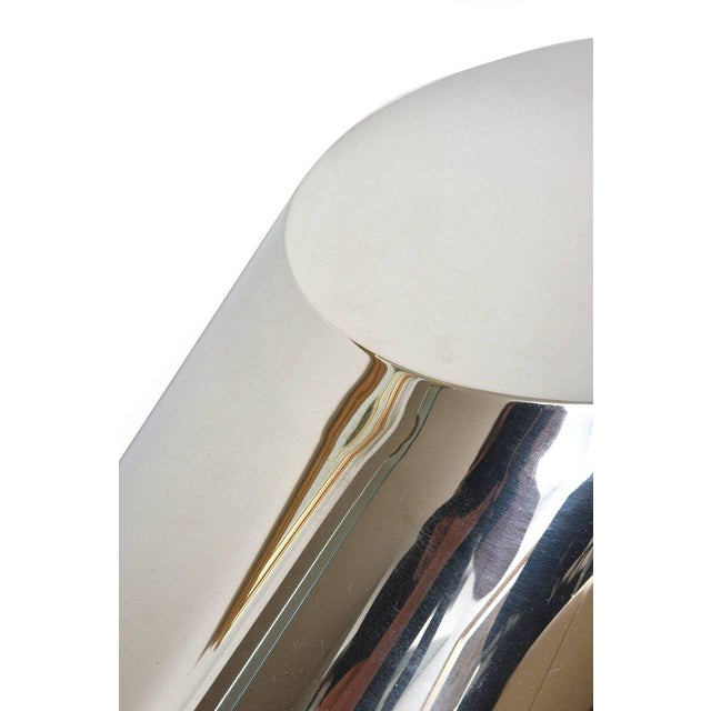 Zephyr J. Wade Beam for Brueton Stainless Steel Angled Sculptural Side Table For Sale In Miami - Image 6 of 10
