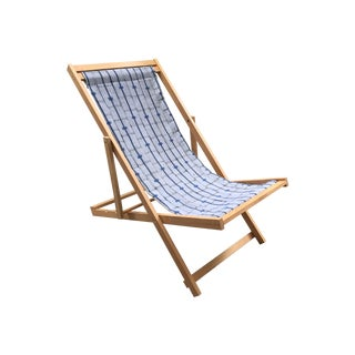 Folding Sling Chair With African Textile For Sale