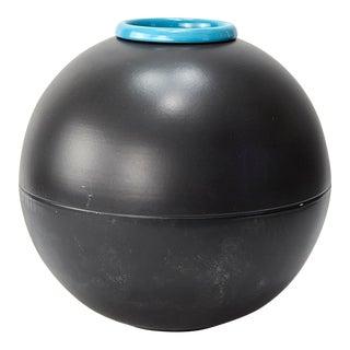 Vintage Postmodern Spherical Italian Memphis Style Vase For Sale