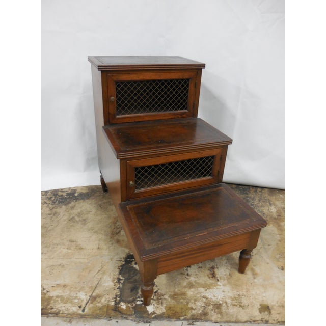 English Traditional 19th Century Mahogany Library Steps For Sale - Image 3 of 8