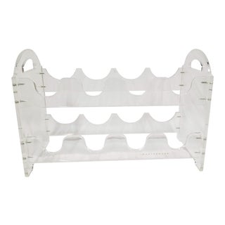 Lucite Wine Rack by Mastermark For Sale