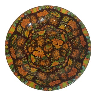 1970s Fall Colors Vintage Daher English Tin Tray For Sale