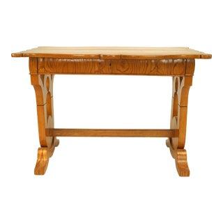 Austrian Biedermeier Ash and Fruitwood Table Desk For Sale