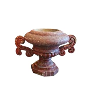 French Red Cement French Urn, Circa Early 1900's. For Sale