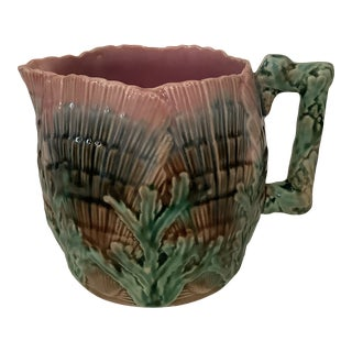 Etruscan Majolica Seaweed Shell Creamer For Sale