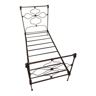 19th Century French Wrought Iron Bedframe For Sale