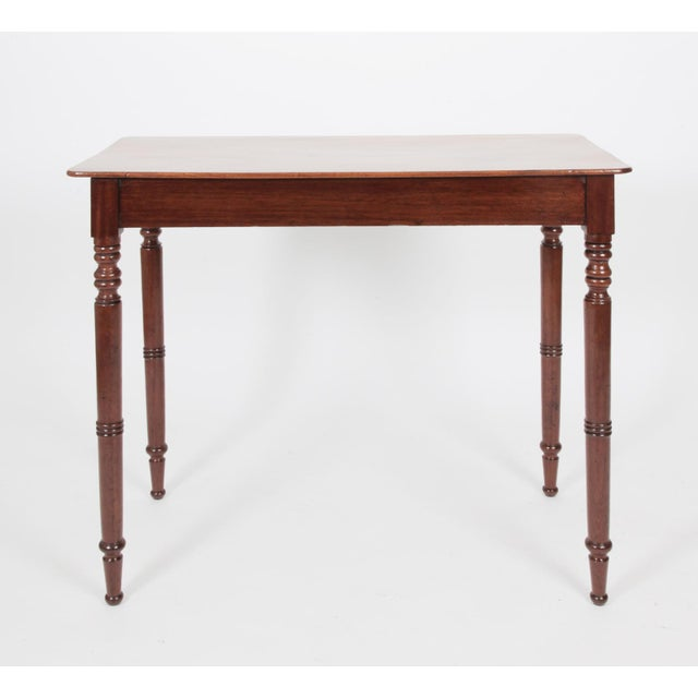 Wood Early 19th Century Antique English Regency Mahogany Side Table For Sale - Image 7 of 7