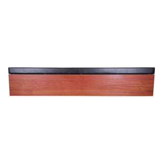 Danish Modern Teak Wall-Mount Floating King Size Headboard, 1960s For Sale