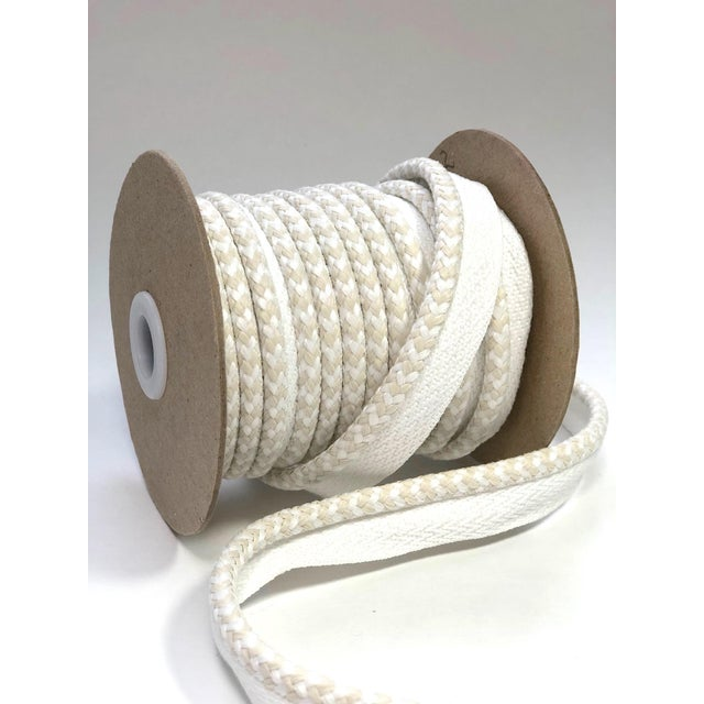 """White Braided 1/4"""" Indoor/Outdoor Cord in White/Cream For Sale - Image 8 of 10"""