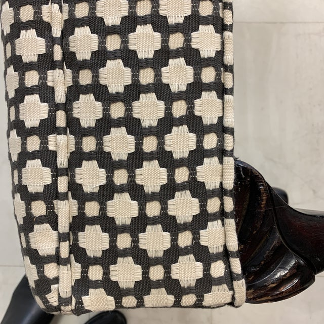 Schumacher Betwixt Vintage Foot Stool For Sale - Image 12 of 13