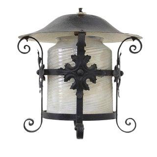 Arts & Crafts Lantern Wrought Iron Vintage Exterior Lantern