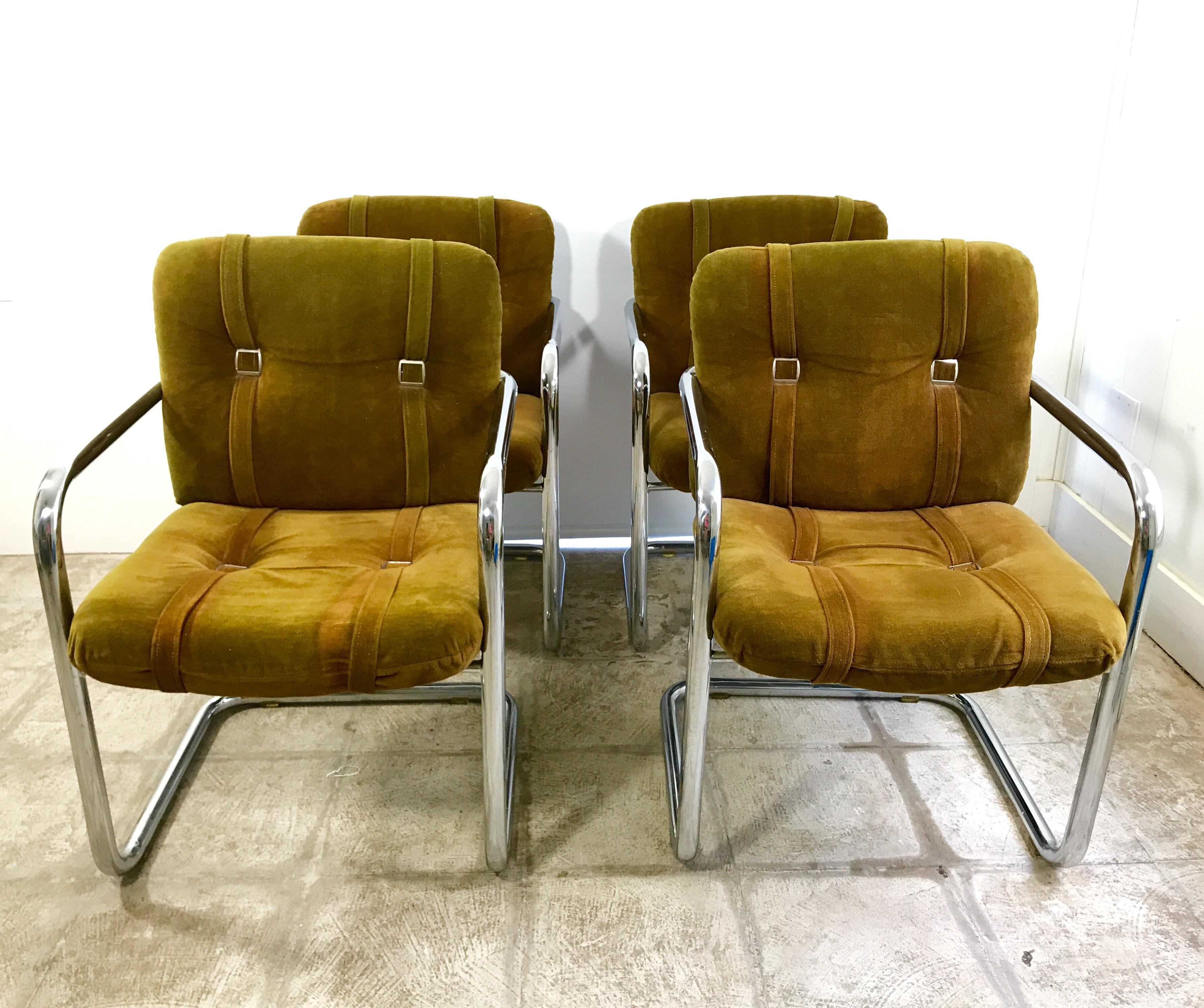Vintage Chromcraft Cantilever Dining Chairs   Set Of 4   Image 2 Of 6