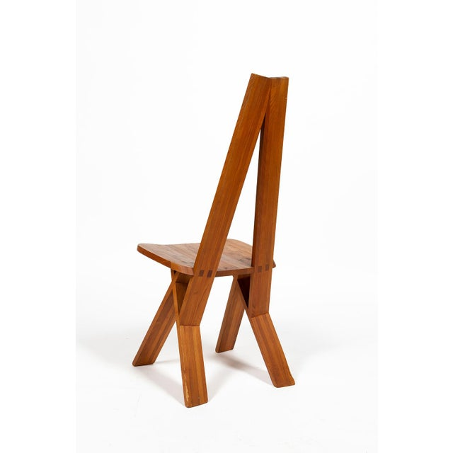1960s Four Chairs by Pierre Chapo S45 in Solid Elm For Sale - Image 5 of 12