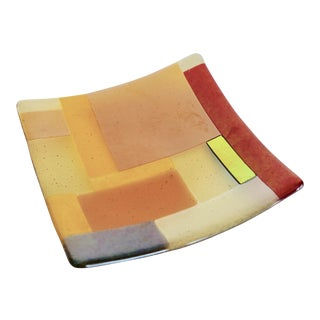Contemporary Art Glass Plate For Sale