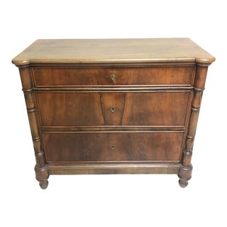 1850's Antique Louis Phillippe Three Drawer Commode For Sale