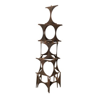 1980s Vintage Brutalist Decorative Art Sculpture For Sale