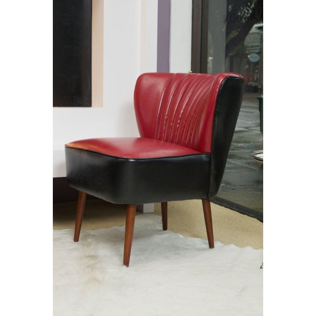Red and Black Jaxon Sofa Chair - Image 2 of 3