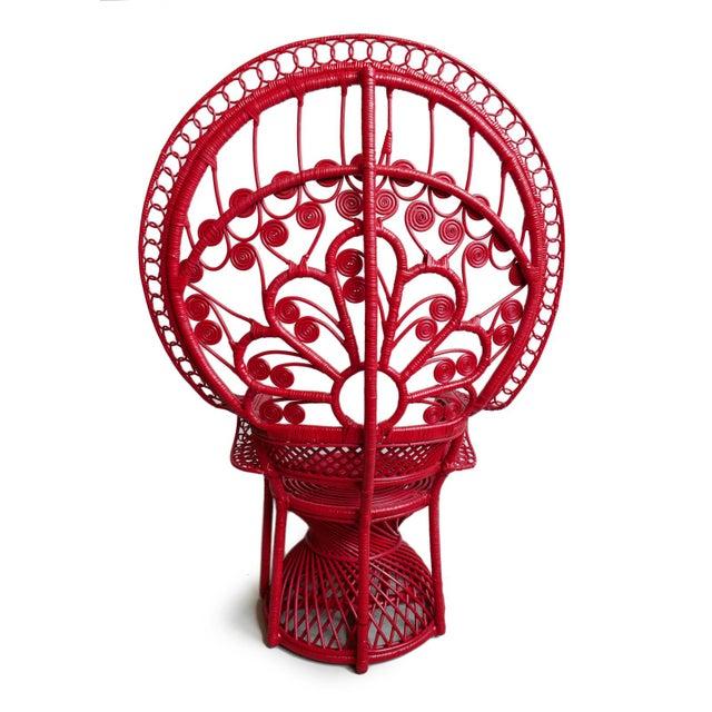 Tomato Bunga Peacock Chair For Sale - Image 4 of 7