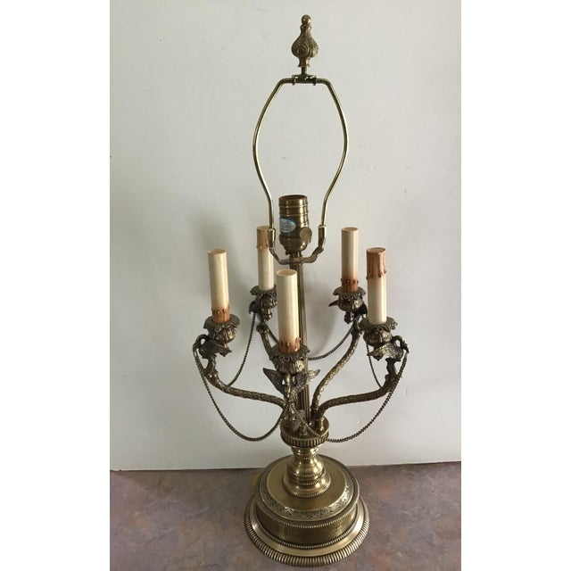Art Deco American Regency Eagle Bird Table Lamp Last Markdown For Sale - Image 3 of 13