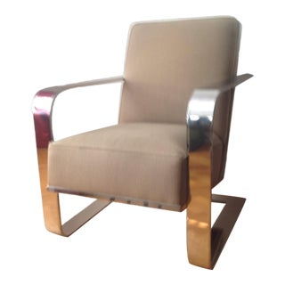 Modern Ralph Lauren New Bohemian Metal Club Chair For Sale