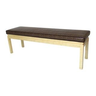 Vintage Reupholstered Python Bench