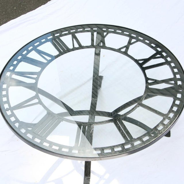 Antique Cast Iron Clock Face Coffee Table For Sale - Image 11 of 11